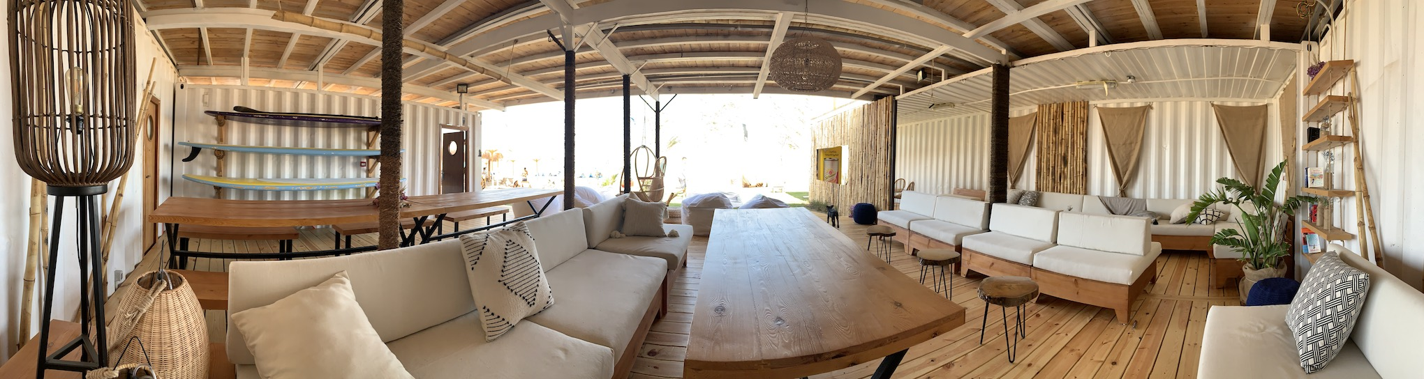 lounge Makani Beach Club chill out kitesurfing center working space
