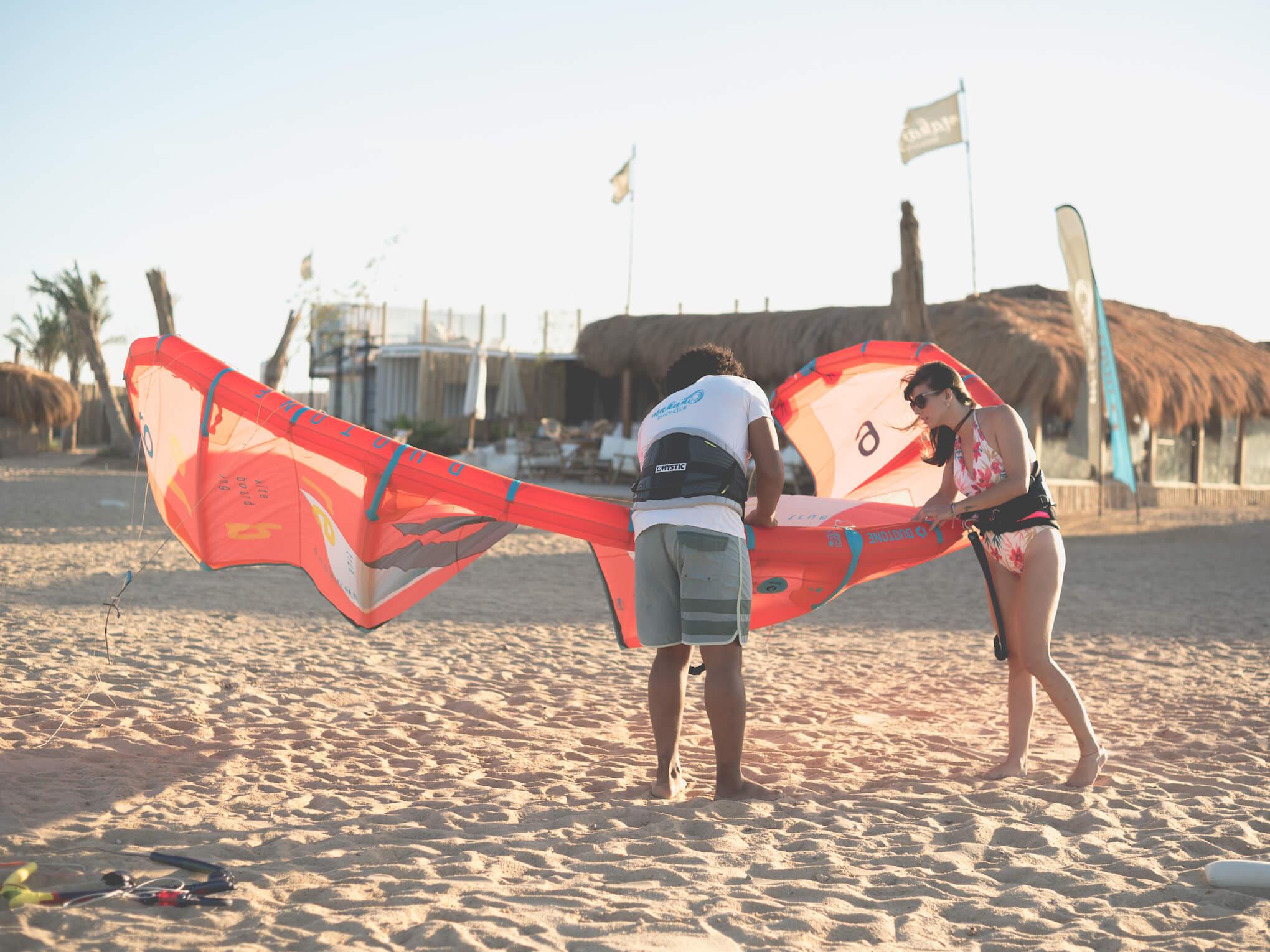 Kiten lernen in El Gouna